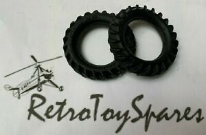 Britains - Two Replacement Rear Tyres for Fordson E27N Tractor
