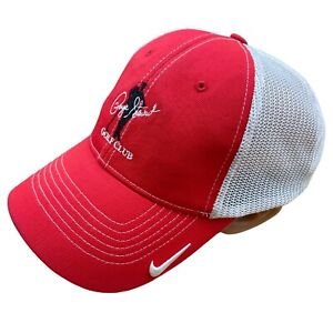 Nike Embroidered Baseball Cap Red White Payne Stewart Golf Club FlexFit