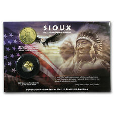 2014 Sioux Dollar w/24-karat Gold Foil (Blister Pack) - SKU #97598