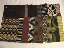 Lot of 20 Upholstery Fabric Samples Mainly Browns Greens 8 x 12 Jonathan Louis
