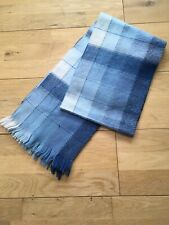 Men's Shades Of Blue Check Scarf