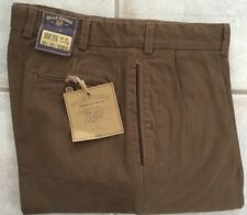 NWT- Bills Khakis  M1P-BOT Overland Twills Pleated Relaxed Fit BROWN SZ 35 $165
