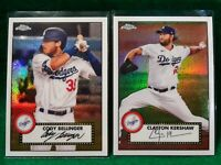 CODY BELLINGER & CLAYTON KERSHAW DODGERS 2021 TOPPS CHROME REFRACTORS X2 HOT HOT