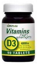 lifeplan super stark Vitamin D3 4000iu 90 Tabletten