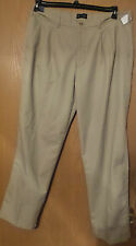Men's St John's Bay Tan Pants Khakis 40 W x 32 Wrinke Resistant Pleated
