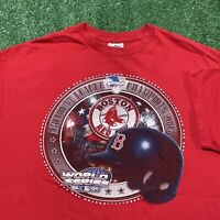 Boston Red Sox T Shirt Mens XL Red MLB Baseball 2004 World Series Champions USA