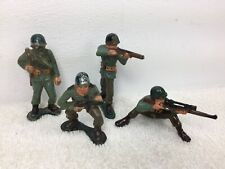 US WWII Combat lot of 4 Soldiers MARX 60mm Warriors of the World Hong Kong WOW