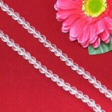 Blanc Cristal de Roche 8mm Ronde Facettes Perles 1 Fil