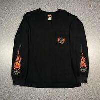 Vintage 2001 HARLEY DAVIDSON ALASKA Mens Long Sleeve T Shirt Medium   Black