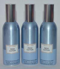 3 BATH & BODY WORKS FRESH COTTON CONCENTRATED ROOM SPRAY PERFUME MIST FRESHENER
