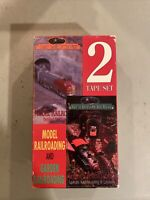 VHS 2 Tape Set 1991 Simitar Great Trains Of The West Garden Model Railroading