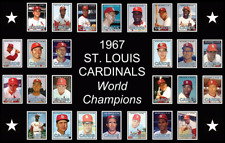 ST LOUIS CARDINALS 1967 World Series Vintage Baseball Card Custom Poster Decor