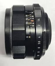 Pentax Super-Takumar 50mm f1.4 Lens, M42 Screw Mount, 8 element