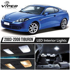 White Interior LED Lights Package Kit For 2003-2008 Hyundai Tiburon