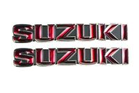 2FastMoto Pair of Reproduction Suzuki Gas Tank Badges Emblems GT750 72-73 NEW