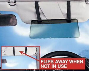 2X Sun Visor Extension Shade Tinted Anti Dazzle Glare Reducer Ideal For Low Sun