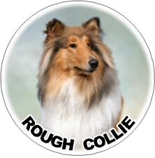 2 Rough Collie - Sable - Car Stickers By Starprint