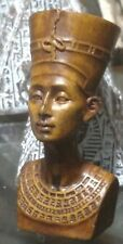 Egyptian Statue, Queen Nefertiti,  Hand Carved Natural Stone, 65 mm