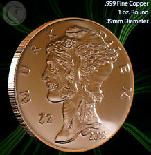 "New listing 2018 ""Murk Diem"" 1 oz .999 Copper Round Zombucks Series"