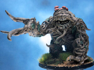 Painted Dungeons and Dragons Miniature Shambling Mound