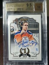 2015-16 UD Champs Connor Mcdavid Rookie RC 19-20 Buybacks BGS 9.5 10 Auto 1/1!!!