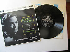 """Kathleen Ferrier Recital Of Bach & Handel Arias Boult 12"""" LP LPO Boult Decca SXL"""