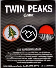 TWIN PEAKS PROMOTIONAL BUTTON SET