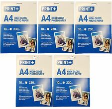 A4 High Gloss Photo Paper - Inkjet, Laser Printer & Photocopiers - 230 gsm