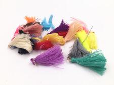 100pcs Multicolored Cotton Tassel Pendant 3 Cm Loop and Tassels White
