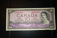 1954 Devil's Face $10 Dollar Bank of Canada Banknote FD0667375