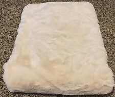 Pottery Barn faux fur IVORY throw blanket 50x60