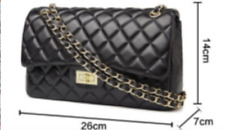 Women Luxury Classic Handbag Chain Shoulder Double Flap Quilted Purse Red Black