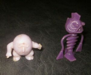 R&L Cereal Toy Crater Critters Bugsy Buggsy Backbone purple 1972 + Upsy Downsy
