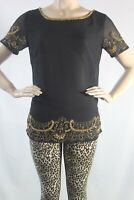 GUESS BY MARCIANO NEW WOMEM'S BLOUSE & TOPS  SZ  XS BLACK GOLD