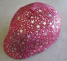 Horse Helmet Cover Red & Silver stars AUSTRALIAN MADE Choose your helmet cover