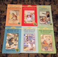 Lot of 6 Children's books Peter Cottontail Pinocchio Rip Van Winkle & more