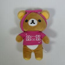 More details for rare san-x rilakkuma 2016 8' japan japanese bear pink rok t shirt plush toy