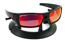 OAKLEY GASCAN BLACK *RED ICON* FRAME / REVANT MIDNIGHT SUN RUBY POLARIZED CUSTOM