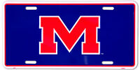 OLE MISS REBELS CAR TRUCK TAG LICENSE PLATE METAL SIGN UNIVERSITY OF MISSISSIPPI