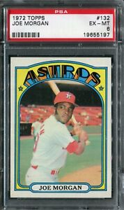1972 Topps #132 Joe Morgan PSA 6 EX-MT