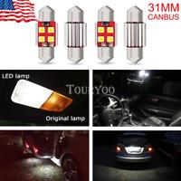 4X ERROR FREE 31MM Festoon CAR LED Interior License Dome Light Bulbs DE3175