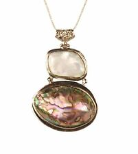 ConMiGo NS10030 colourful shell pendant with 3mm mesh chain necklace