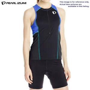NWT PEARL IZUMI Women Blue Sleeveless Triathlon Cycling Running Jersey Sz S