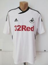 SWANSEA CITY 2011/2012 HOME FOOTBALL SHIRT JERSEY CAMISETA ADIDAS WALES SIZE M