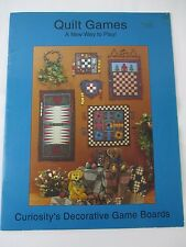 Quilt Games A New Way to Play Craft Booklet Checkers Backgammon Parcheesi