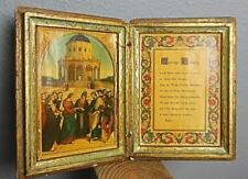 "Vintage Florentine Diptych ""Marriage Blessing"" Hand Made Italy 7 x 3.25 x 1"""