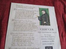 Chaucer prologue to the Canterbury Tales lire en moyen anglais LP ARGO Vinyle
