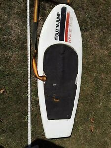 VINTAGE CUT 'N JUMP KNEE SKI - hydroslide kneeboard W/ STRAP, ONLY ONE ON EBAY.
