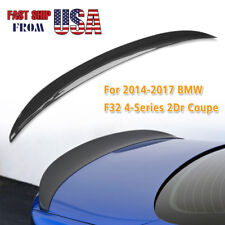 Real Carbon Fiber Rear Trunk Spoiler lip For 2014-17 BMW F32 4-Series 2Dr Coupe