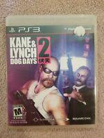 Sony PlayStation 3 PS3 Kane&Lynch 2 Dog Days Game Disc Complete CIB w/Box,Manual